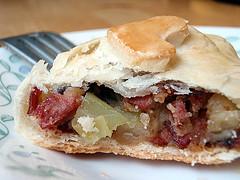 Corned beef hash pasty, by joyosity